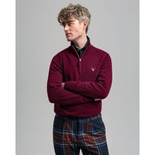 Load image into Gallery viewer, Gant superfine lambswool 1/4 zip Dark Burgundy
