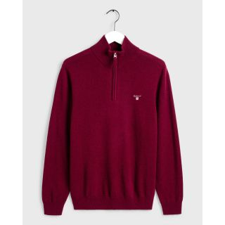 Gant superfine lambswool 1/4 zip Dark Burgundy