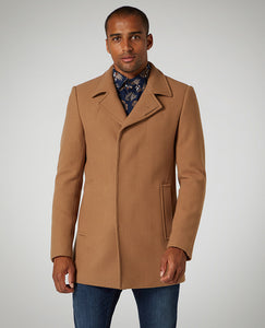 Remus Uomo Tapered Fit Wool-Rich Overcoat
