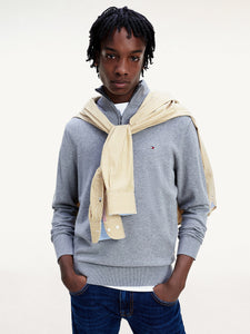 Tommy Hilfiger organic cotton zip neck sweater