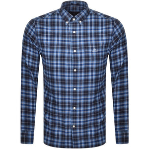 Gant Flannel shirt regular fit persian blue