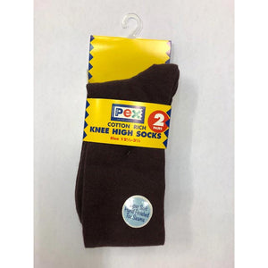 Girls Brown Knee Socks