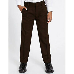 Brown Pull Up Trouser with Elasticated Waist (no zips or clips)