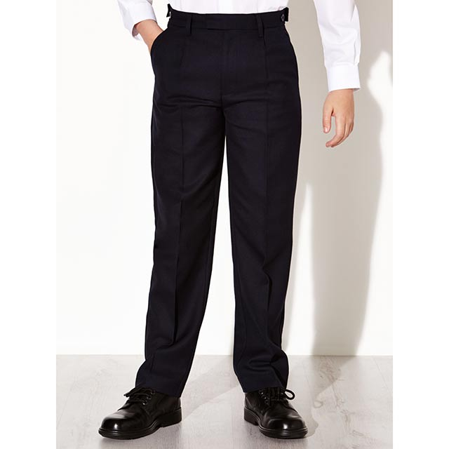 Navy School Trousers with Elasticated Waist