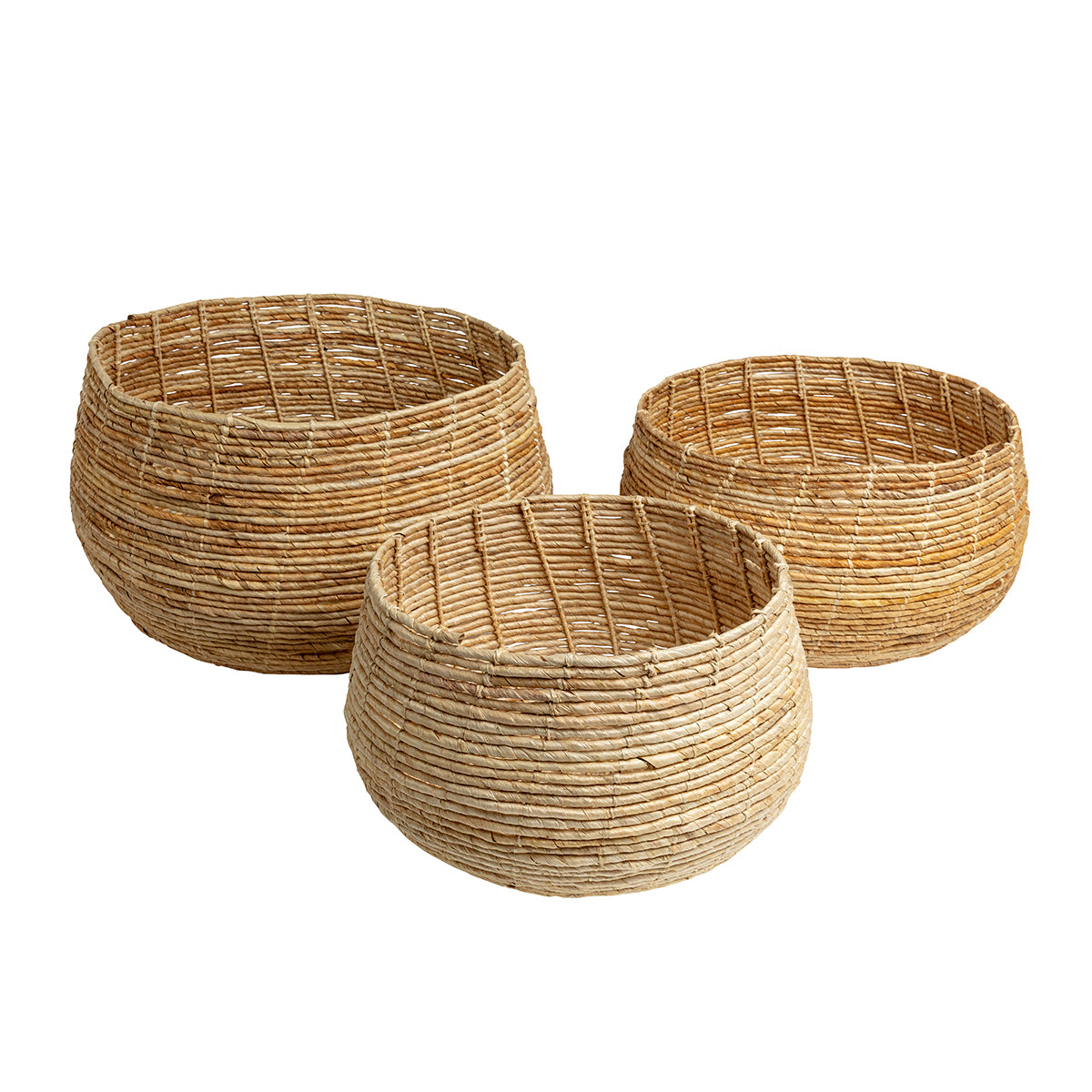 Abaca Belly Basket, S