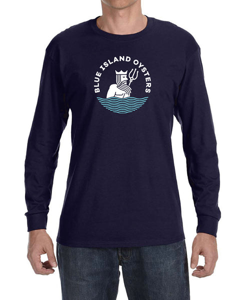 Blue Island Oysters Long Sleeve Shirt