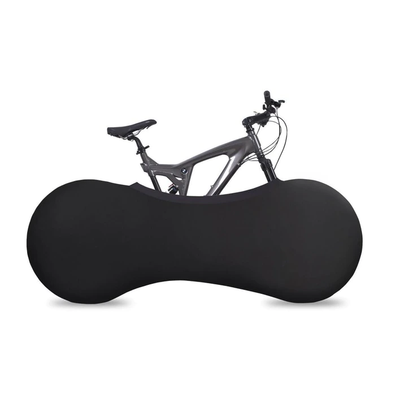 INDOOR BICYCLE WHEEL COVER STORAGE