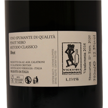 """Pinot 64"" Oltrepò Pavese Spumante Metodo Classico Brut"