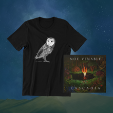 Load image into Gallery viewer, Signed Cascadia CD + Owl T-shirt