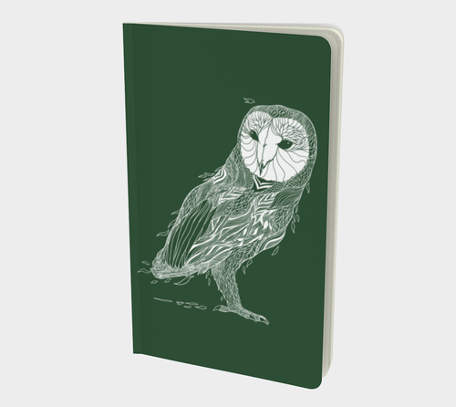 Owl Journal in Forest Green - Assorted Styles