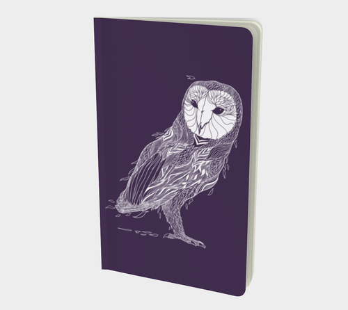 Owl Journal in Eggplant Color - Assorted Styles