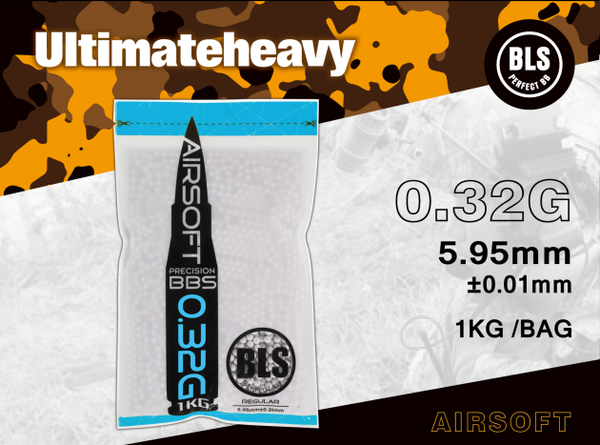 BLS 0.32g ULTIMATE HEAVY 1KG WHITE