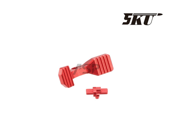 5KU ENHANCED BOLT CATCH For AEG M4 -RED