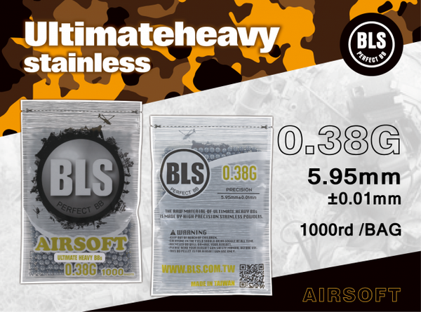 BLS 0.38g ULTIMATE HEAVY 1000 RDS- GREY