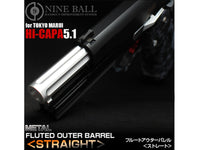 NINE BALL Fluted Fixed Outer Barrel for Hi-CAPA 5.1-SILVER