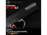 NINE BALL Twisted Fixed Outer Barrel for Hi-CAPA 5.1-GUN METALLIC