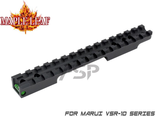 Maple Leaf CNC Scope Rail Mount with Bubble Level - Green ( VSR )