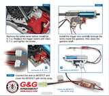 G&G ETU 2.0 AND MOSFET 3.0 + VERTICAL TRIGGER FOR VER.II GEARBOX (REAR WIRE)