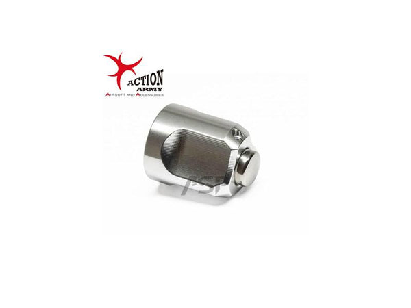 ACTION ARMY VSR BOLT END CAP- SILVER