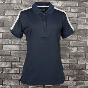 【BRIEFING】WOMENS LOGO MESH SIDE LINE POLO[NAVY](BRG211W13)