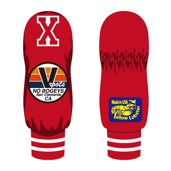 【yellow lobster】TRESTLES NO BOGEYS RED X(UT HEAD COVER)