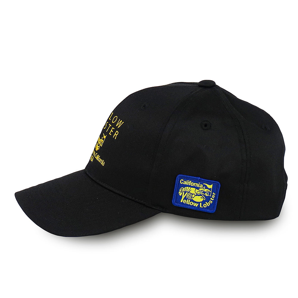 【yellow lobster】CAP EMB BIG YL[BLACK](YL-6789M-YL-BK)