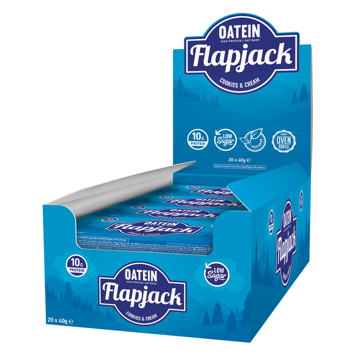 Box of Protein Flapjack with almost no sugar - 20x 40g