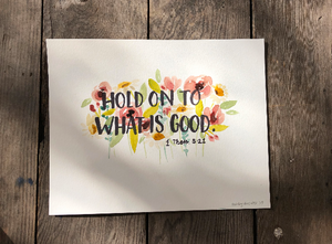 Custom Watercolor Bible Verse