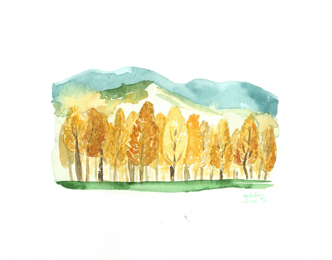 Watercolor print: Flagstaff, Arizona landscape