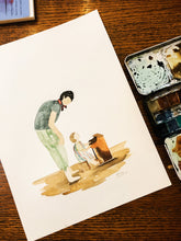 Load image into Gallery viewer, Custom Watercolor Portrait