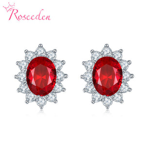 Replica Duchess of Cambridge/Diana 'sapphire' earrings
