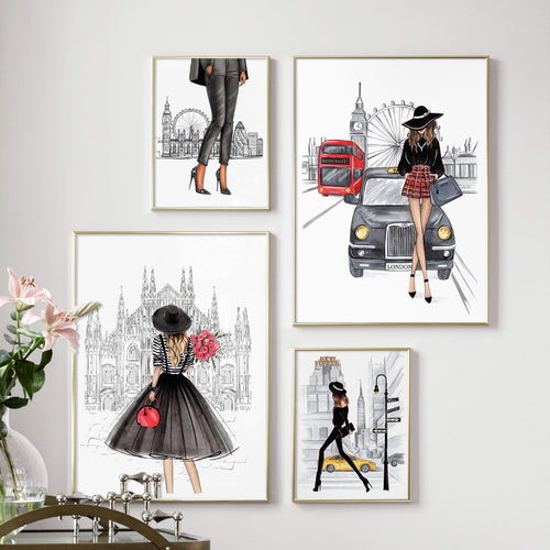 London model canvas print