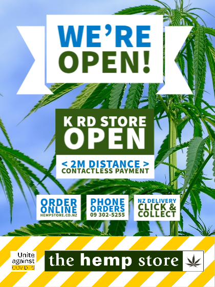 The Hempstore on K Road is open again