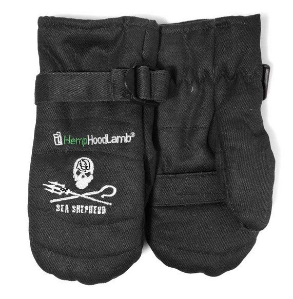GLOVES HEMP HOODLAMB BLACK OR ARCTIC CANNO