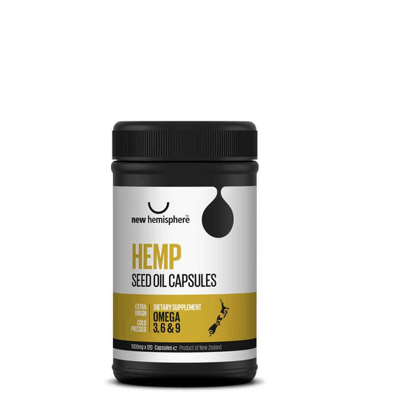 New Hemisphere Hemp Seed Oil Capsules (120's)