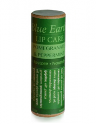BLUE EARTH LIP BALM POMMEGRANATE & PEPPERMINT