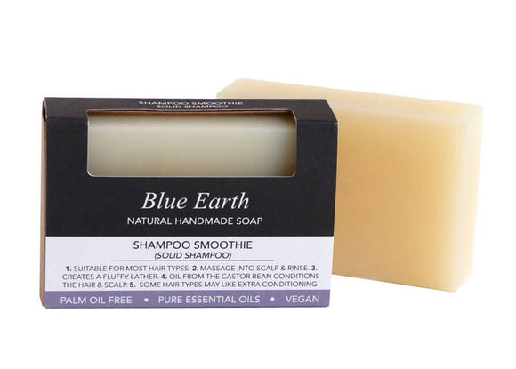 HEMP SOAP BLUE EARTH SHAMPOO SMOOTHIE MED 85G
