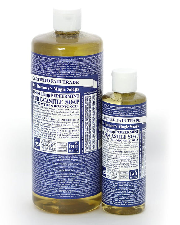 DR BRONNERS 18-IN-1 LIQUID SOAP PEPPERMINT 940ML