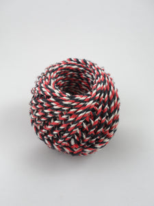 TWINE MAORI RED/WHITE/BLACK 3-COLOUR 3/2.5 100G