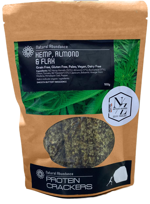 Natural Abundance Hemp Crackers (100g)