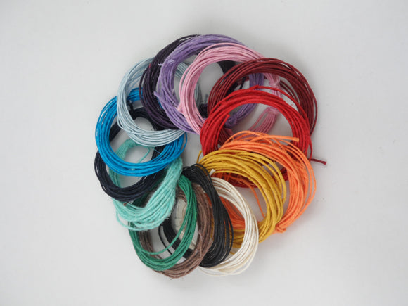 TWINE MULTI PACK OF 15 MIXED COLOURS - REGULAR GRADE 3M EACH