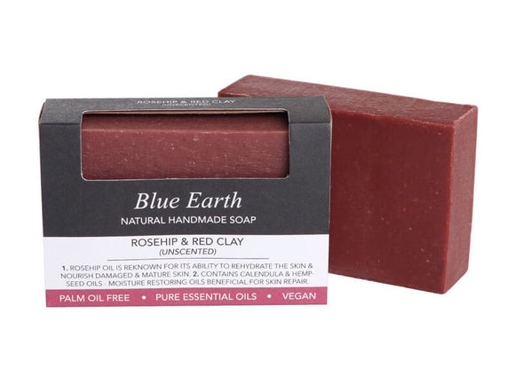 HEMP SOAP BLUE EARTH ROSEHIP & RED CLAY MED 85G