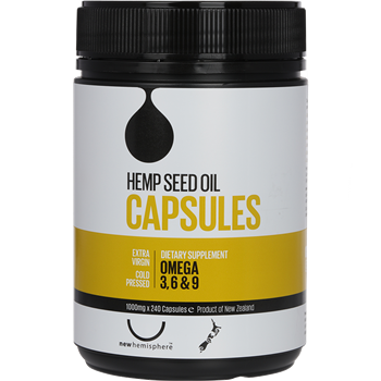 New Hemisphere Hemp Seed Oil Capsules (240's)