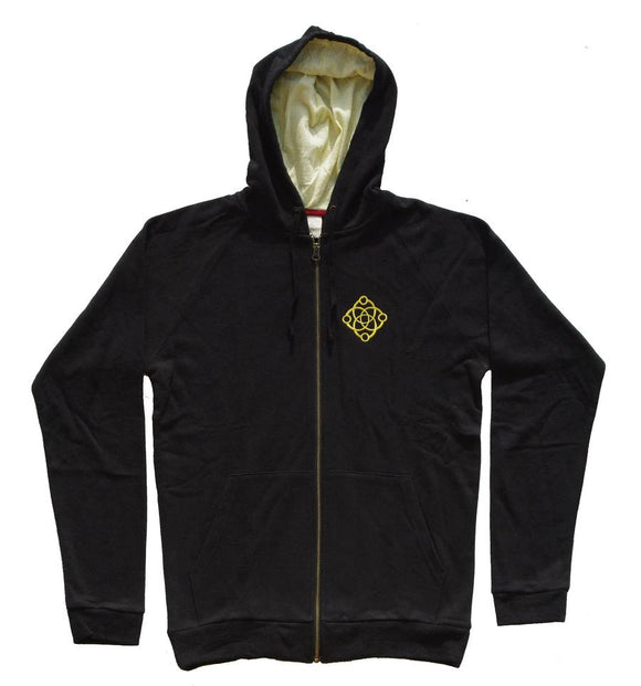 SATORI HOODIE - LINKED LOGO ZIP-UP