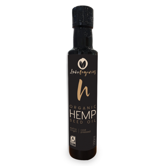 Love Organics Premium Extra Virgin Organic Hemp Seed Oil 250 ml