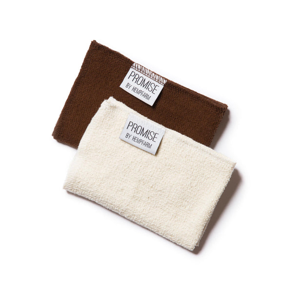 PROMISES ORGANIC HEMP & COTTON FACE AND HAND WASH CLOTH / HEMP FLANNEL
