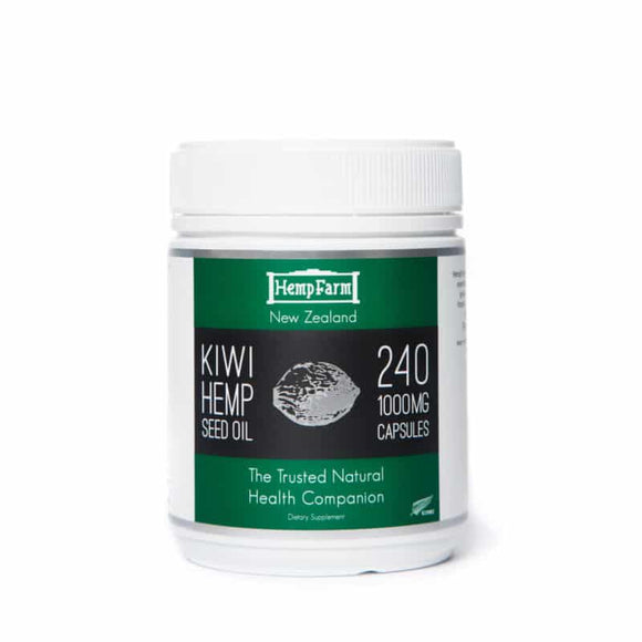 HempFarm Kiwi Hemp Seed Oil – 240 x 1000mg Softgel Capsules