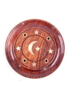 WOODEN ASH CATCHER  ROUND LARGE C4