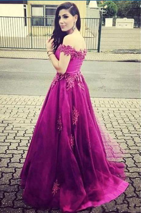 Off the Shoulder Real Made Charming Prom Dresses Long Evening Dresses Prom Dresses On Sale S209