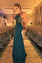 Load image into Gallery viewer, Halter Beaded Evening Dress Fashion Prom Dress Sexy Custom Made Prom Dresses RS606